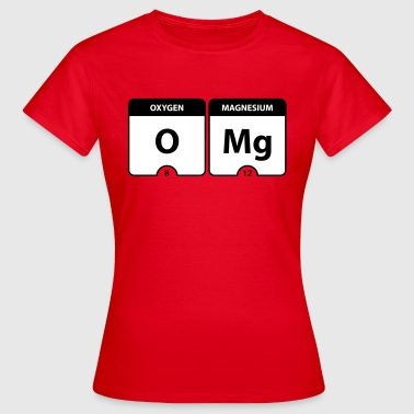 Periodic Table OMG Periodic Table - Vrouwen T-shirt