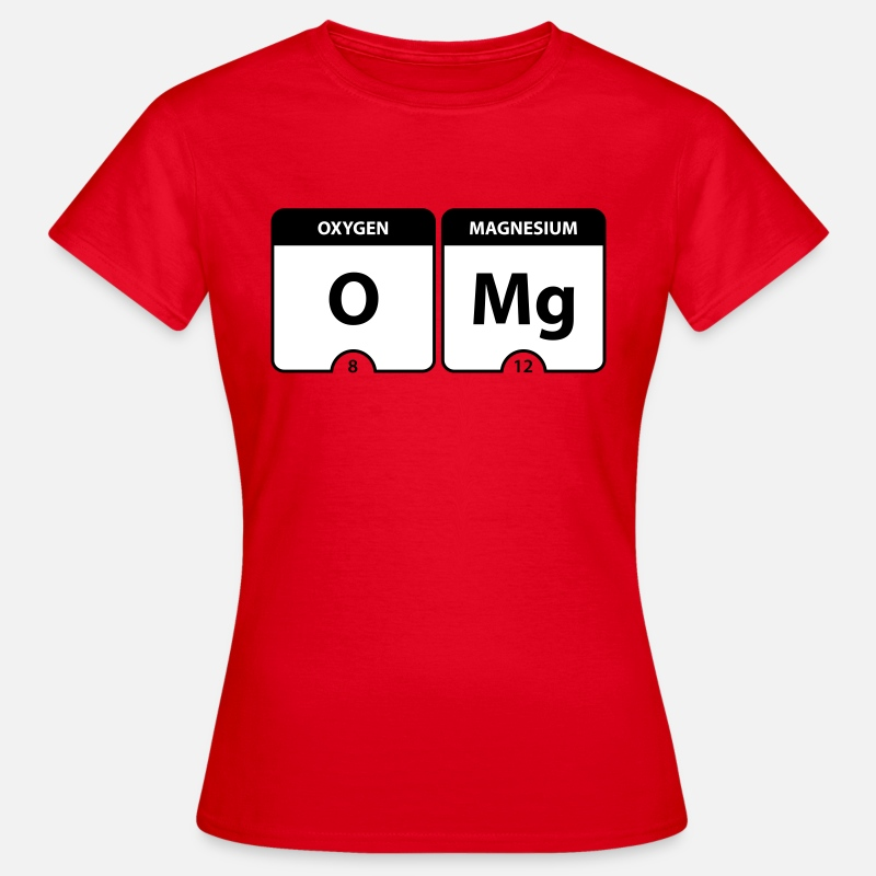 Chemistry T-Shirts - OMG Periodic Table - Women's T-Shirt red