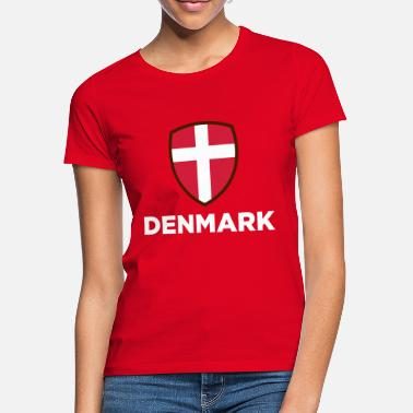 dc722203 Danmark Danmarks nasjonale flagg - T-skjorte for kvinner