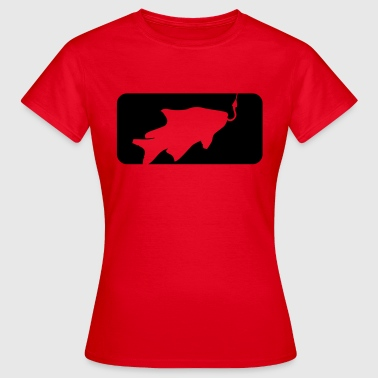 Sportauto button sport logo caught fish fishing swim - Women's T-Shirt