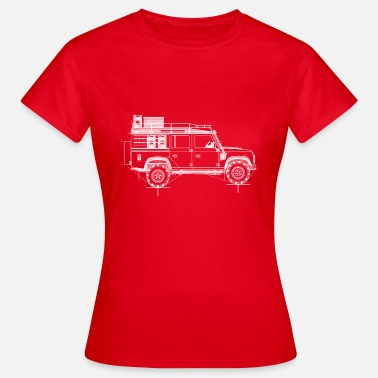 Blueprint Reino Unido Offroad Icon, Roof Blueprint Blueprint Drawing - Camiseta mujer