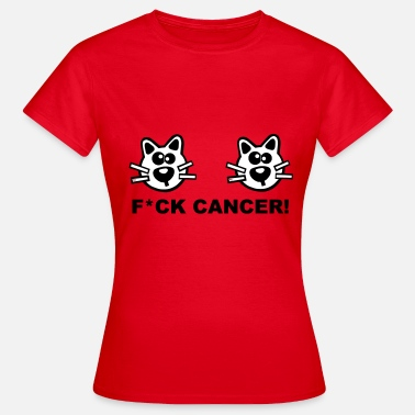Fuck You Cat Katzen Krebs Brustkrebs Cancer Fuck Fight Cat - Vrouwen T-shirt