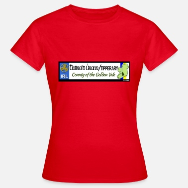 Decals TIPPERARY, IRELAND: licence plate tag style decal - Women's T-Shirt