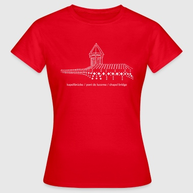 Chapel Bridge Lucerne - in cool swissness design - Women's T-Shirt