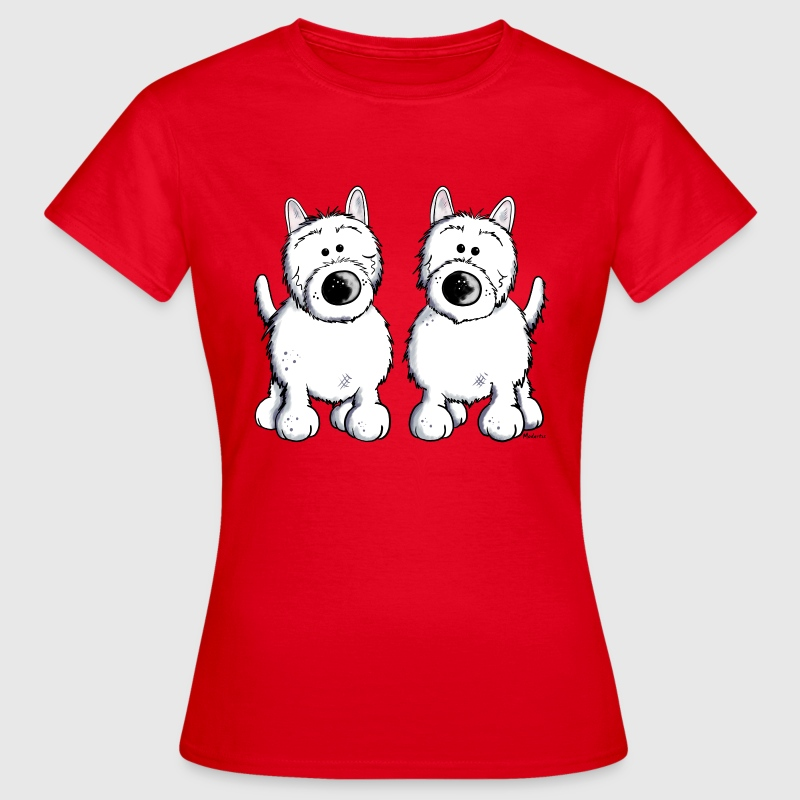 Two West Highland White Terrier - Women's T-Shirt