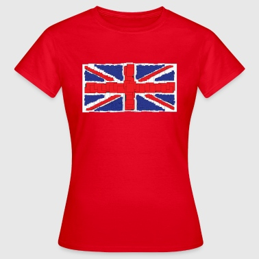 Gb Anime Style Union Jack T-Shirt - Women's T-Shirt