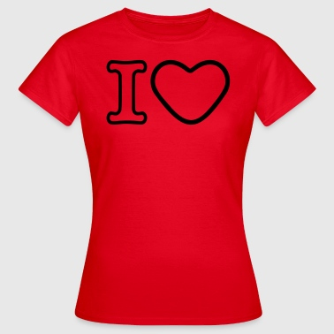 I Heart - Women's T-Shirt