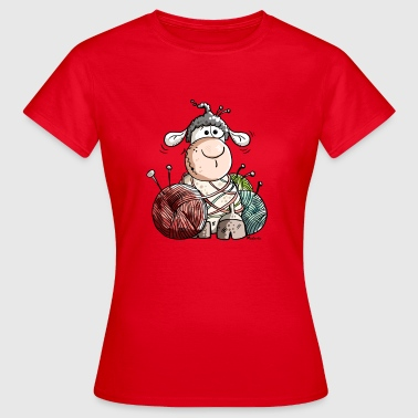Funny Sheep With Wool Ball - Women's T-Shirt