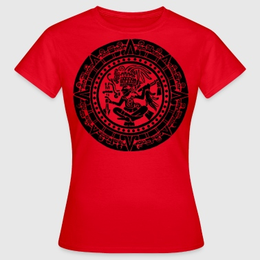 Mayan Calendar - Black - Women's T-Shirt