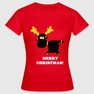 Schnee Comic Merry Christmas Rentier Winter Advent Schnee Comic - Frauen T-Shirt