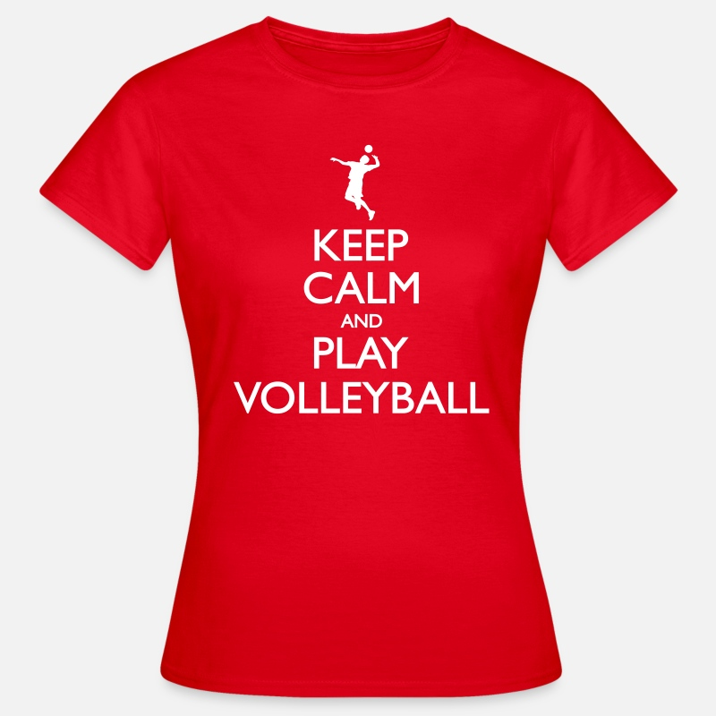 Volley T-Shirts - Keep Calm play Volleyball - Women's T-Shirt red