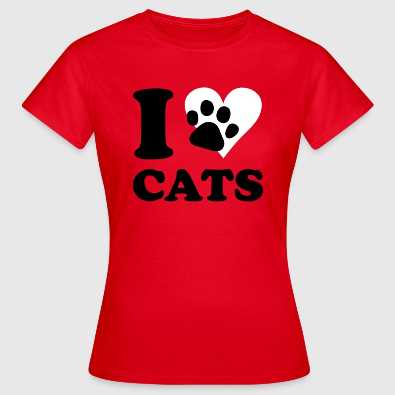 chat - I love cats - T-shirt Femme