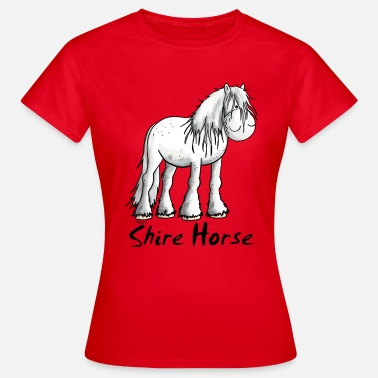 Wit Paard Witte Shire Paard - Paarden - Shire - Vrouwen T-shirt