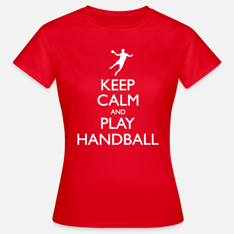 Handball T-Shirts - Keep calm and play handball - Women's T-Shirt red