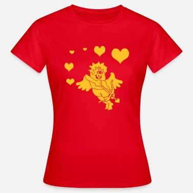 Bow And Arrow Cupid with Hearts Bow and Arrow - Vrouwen T-shirt
