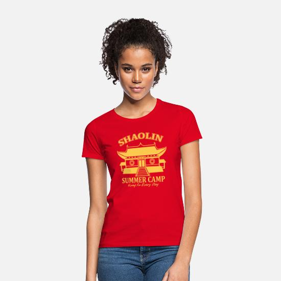 Boxen T-Shirts - Shaolin Summer Camp - Frauen T-Shirt Rot