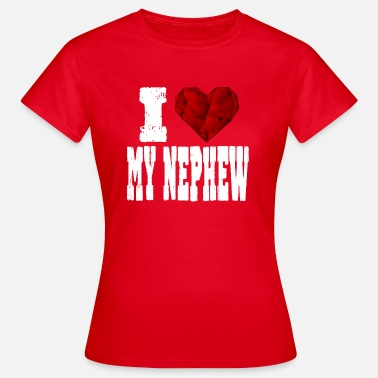 Rubin i love my nephew saying heart love love - Women's T-Shirt