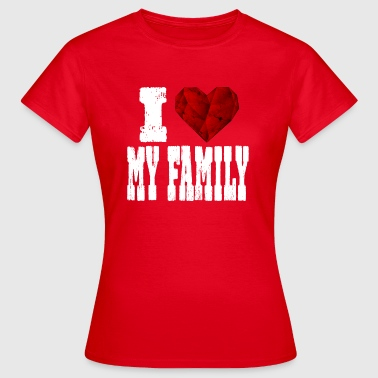 Rubin i love my family - Women's T-Shirt