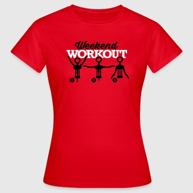Weekend workout corkscrew - Women's T-Shirt
