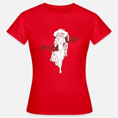 Pin - Up Pige pin up pige i stranden - Dame-T-shirt