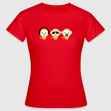 modern hipster three monkeys - Frauen T-Shirt