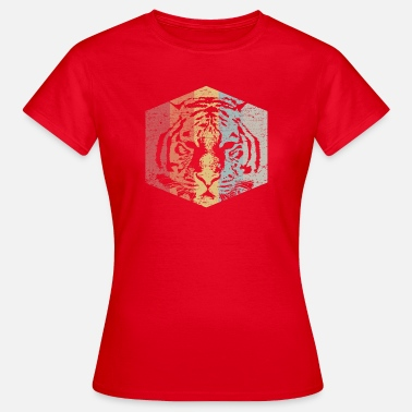 Super Cool Awesome Retro Face Of A Tiger - Women's T-Shirt