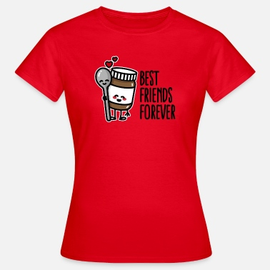 Spoon Best friends forever chocolate spread / spoon BFF - Camiseta mujer