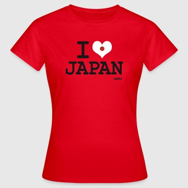 I LOVE JAPAN - Frauen T-Shirt
