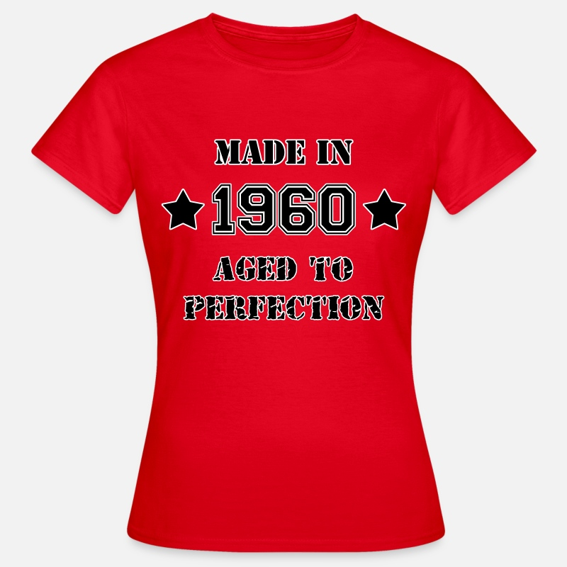 1960 Camisetas - 1960- Aged to perfection - Camiseta mujer rojo