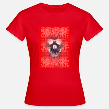 Cranium In the spell of the digital numbers, with monkey skull - Women's T-Shirt