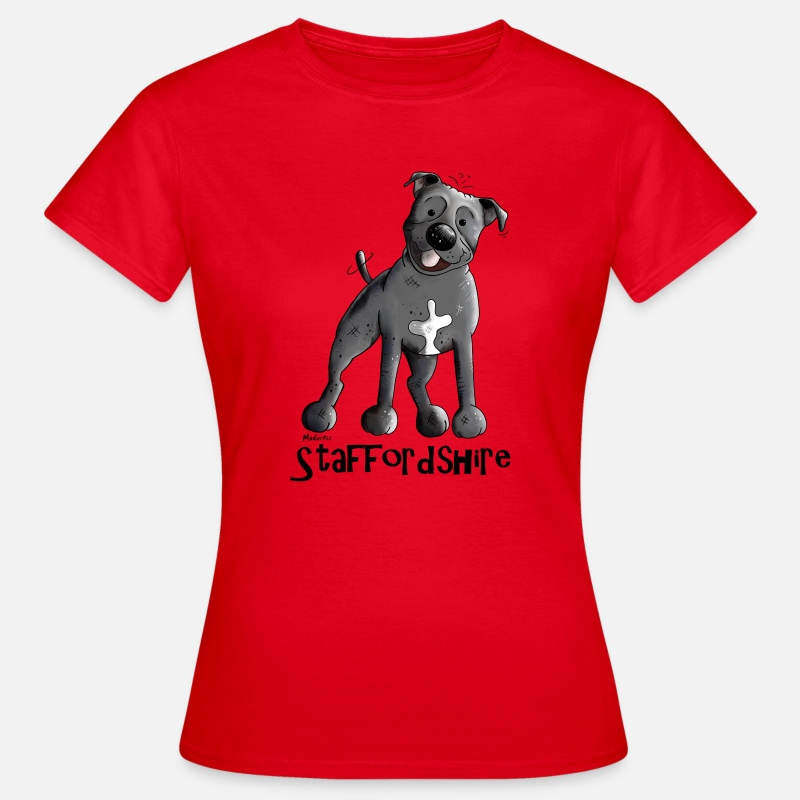 Staffie T-Shirts - Staffordshire Bull terrier - Women's T-Shirt red