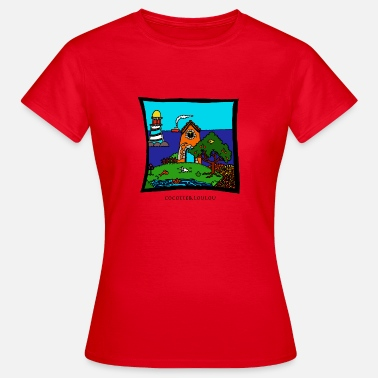 Seaside Holidays at the sea - Women's T-Shirt