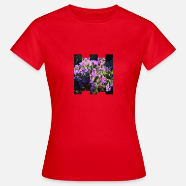 Stagger Purple flowers Staggered stripes - Women's T-Shirt