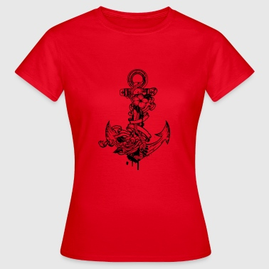 Anchor with flowers - Women's T-Shirt
