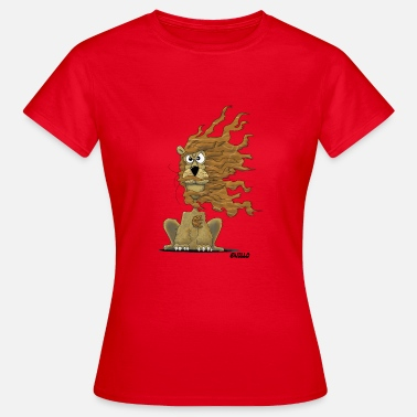 Winderig Enillo Cartoon Loewe winderig - Vrouwen T-shirt