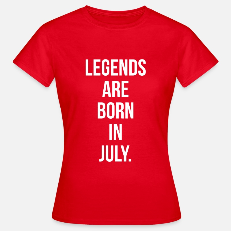 1956 T-Shirts - Legends are born in july - Vrouwen T-shirt rood
