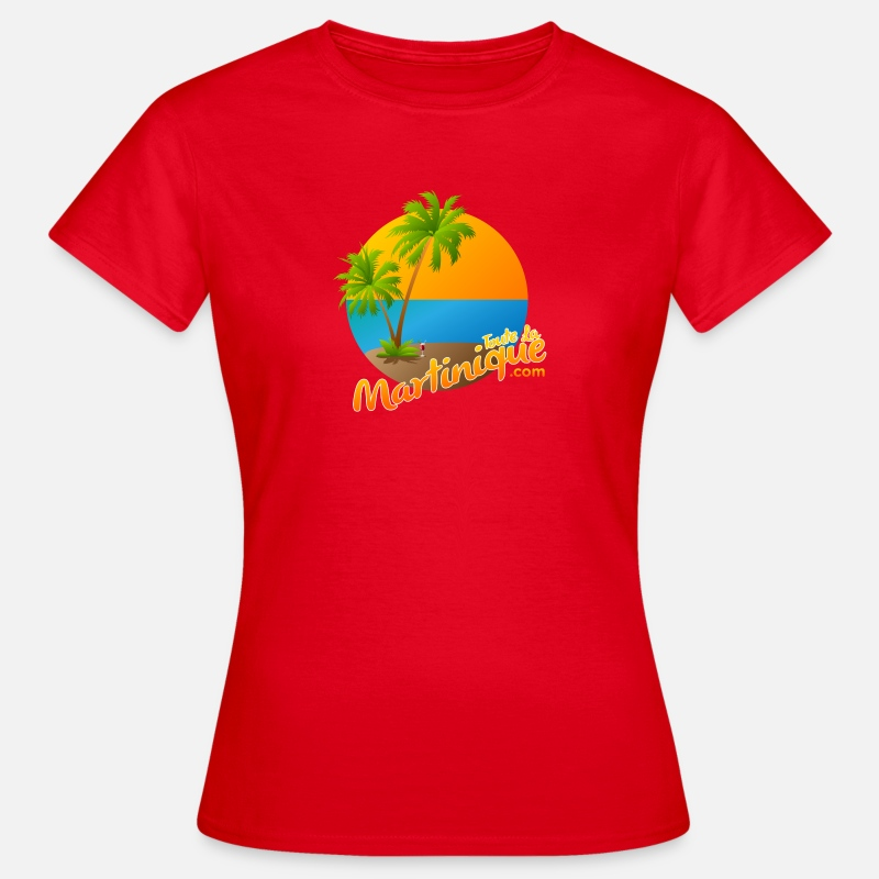 Martinique T-shirts - Martinique - T-shirt Femme rouge