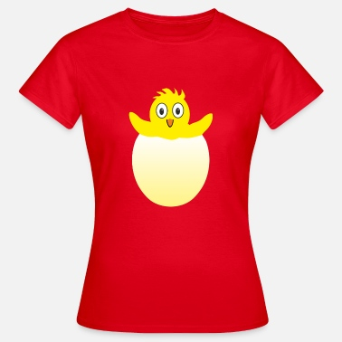 Egg Hatch Chick hatching from egg - Women's T-Shirt