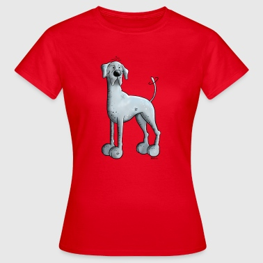 Deutsche Dogge Cartoon Knuffige Deutsche Dogge - Frauen T-Shirt