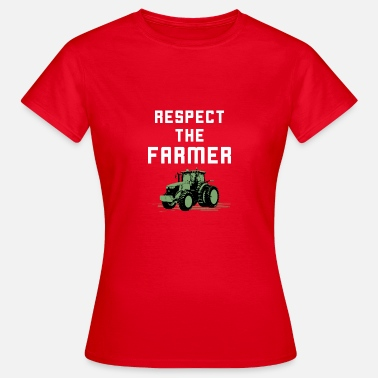 Ranch Respect The Farmer T-Shirt Grunge Tractor Ranch - Women's T-Shirt