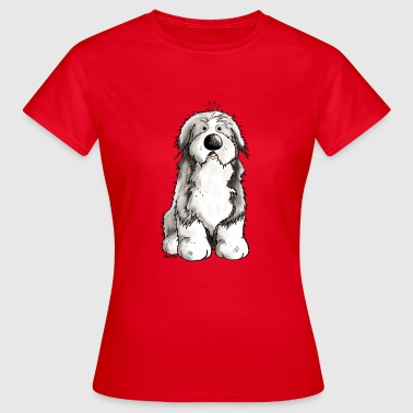 divertido Collie barbudo - collies barbudos - Camiseta mujer