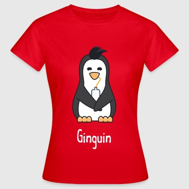 Ginguin - A penguin who really loves gin - Women's T-Shirt