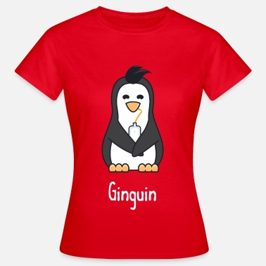Gin Ginguin - A penguin who really loves gin - Women's T-Shirt