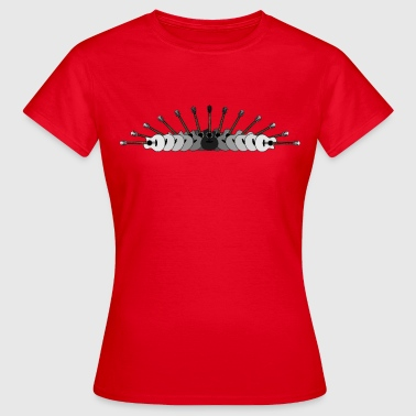 Array of Guitars in Black and White - Women's T-Shirt