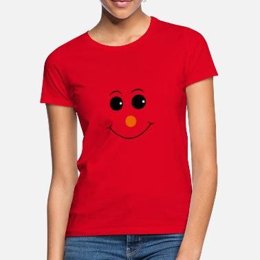 Red Nose Smiley with red nose - Women's T-Shirt