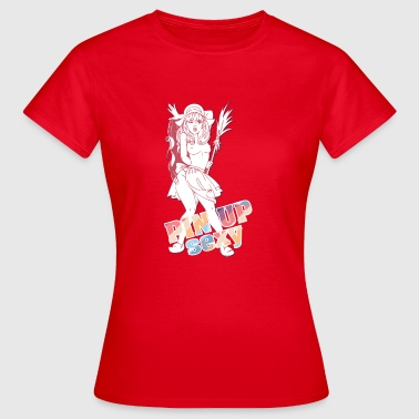 Breast Naked naked breast pin up girl - Women's T-Shirt