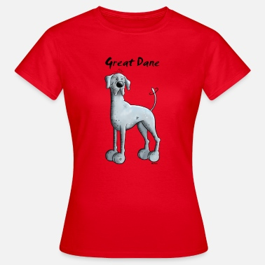 Deutsche Doggen Comic Drollige Deutsche Dogge - Frauen T-Shirt