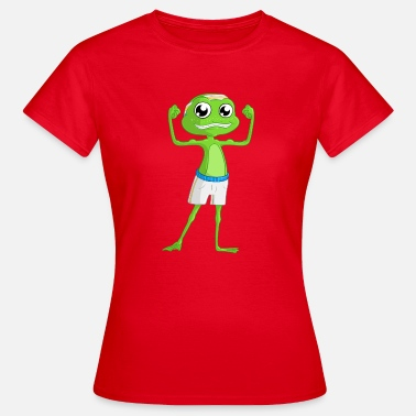 Kikker Cartoon Fitness cartoon kikker - Vrouwen T-shirt