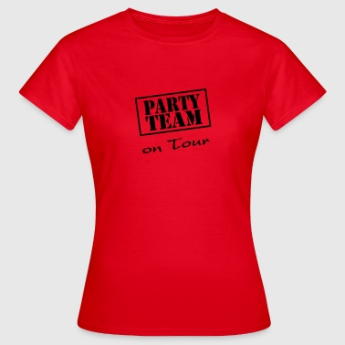Party Team on Tour - Dame-T-shirt