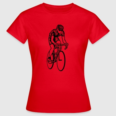 Rennrad / Racing Bicycle 01_schwarz - Frauen T-Shirt
